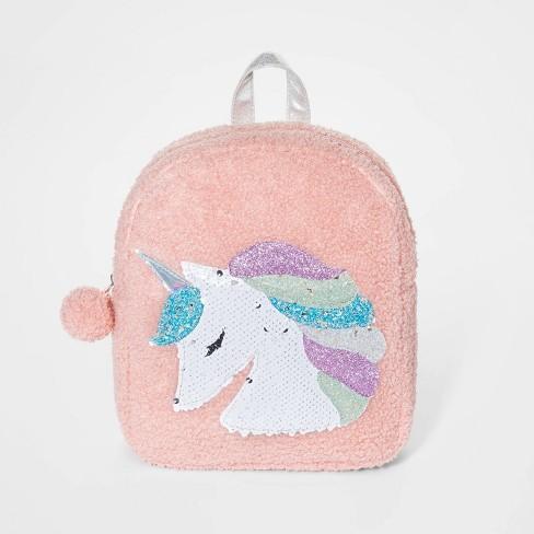 Girls' Unicorn Mini Backpack - Cat & Jack™ Pink - image 1 of 2