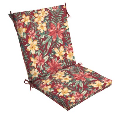 Clarissa Tropical Clean Finish Outdoor Chair Cushion Ruby - Arden Selections