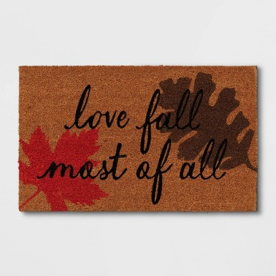 "1'6""x2'6"" ""Love Fall Most of All"" Doormat Orange - Threshold™"