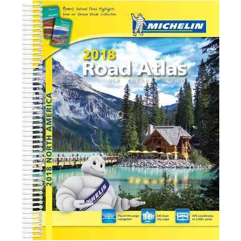Michelin 2018 Road Atlas Usa Canada Mexicao Paperback Target