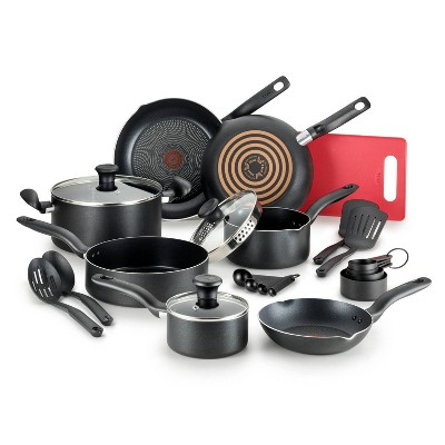 T-fal Simply Cook Prep and Cook Nonstick 17pc Set, Black