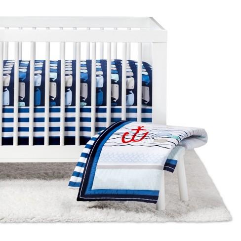 Crib Bedding Set By The Sea 4pc Cloud Island Navy Target
