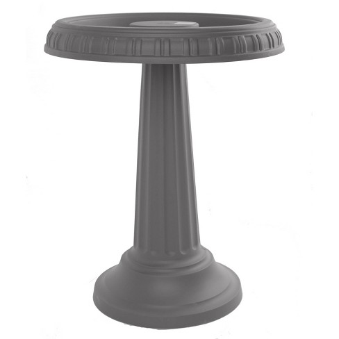 "17"" Bird Bath with Pedestal Charcoal - Bloem - image 1 of 4"