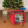 Honey-Can-Do Holiday Ornament Storage Large Red Cube - image 3 of 4