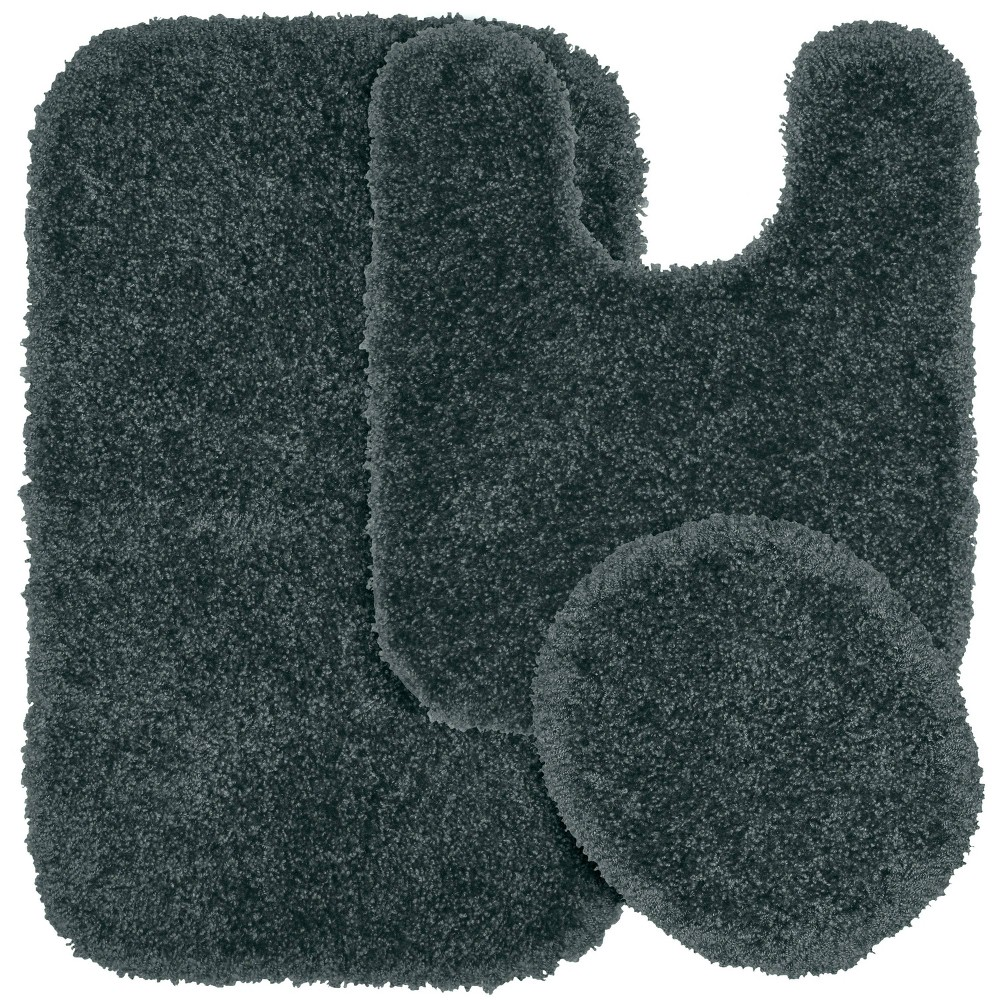 3pc Serendipity Shaggy Washable Nylon Bath Rug Set Gray - Garland was $46.99 now $31.99 (32.0% off)