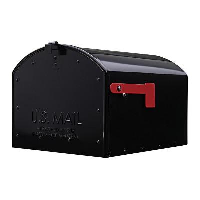 Gibraltar Mailboxes Storehouse Post Mount Mailbox Black