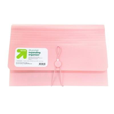 24 Pocket Expanding File Folder Organizer Legal Size Blush - up & up™