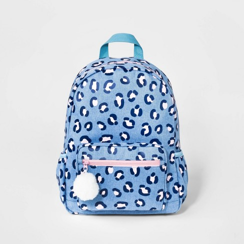 Girls' Leopard Print Backpack - Cat & Jack™ Blue - image 1 of 2