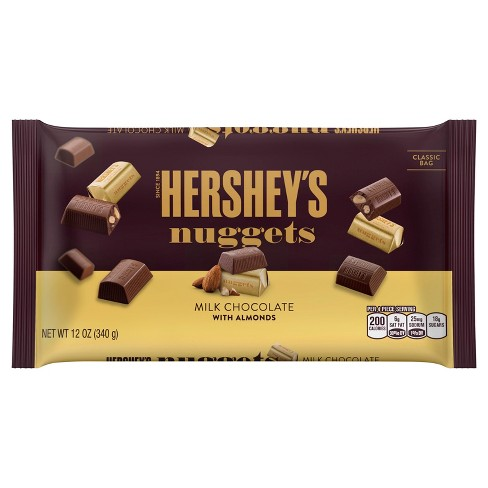 HERSHEY'S Nuggets Milk Chocolate with Almonds - 12oz - image 1 of 1