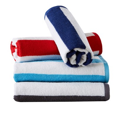 Great Bay Home Terry Cabana Striped 4-Pack Beach Towel
