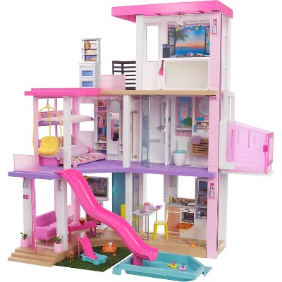 Barbie Dreamhouse Dollhouse with Pool, Slide, Elevator, Lights & Sounds 3.75'