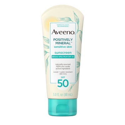 Sunscreen & Tanning: Aveeno Positively Mineral