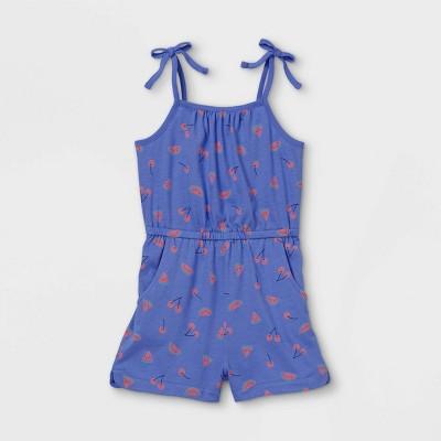 Toddler Girls' Tank Romper - Cat & Jack™ Blue 18M