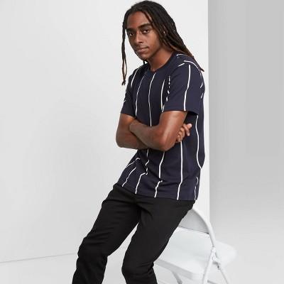 Men's Striped Relaxed Fit Fighter Pilot Crewneck T-Shirt - Original Use™ Blue