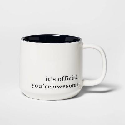 16oz Stoneware You're Awesome Mug Cream - Threshold™