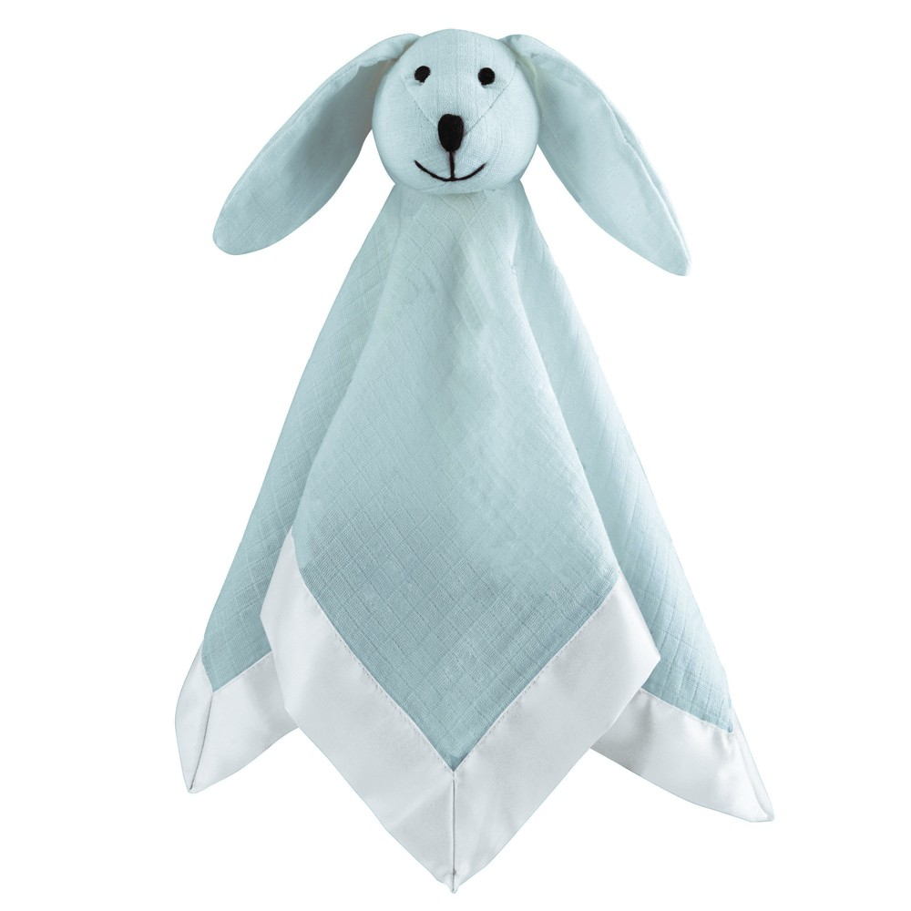 Image of Aden by Aden + Anais Security Blanket Muslin Lovey - Winter Sky - Light Blue