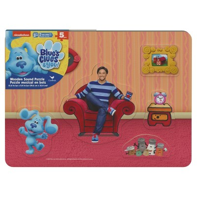 Nick Jr Cardinal Blues Clues Kids' Wood Sound Puzzle - 5pc