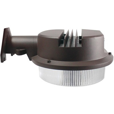 """John Timberland Modern Outdoor Security Flood Light Fixture LED Bronze 7"""" Polycarbonate Lens Security Dusk to Dawn for Exterior House Barn"""