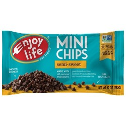 Enjoy Life Semi-Sweet Dairy Free Vegan Mini Chocolate Chips - 10oz
