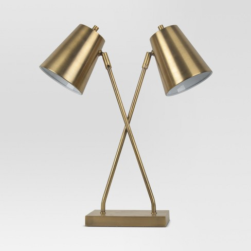 Olson Two Head Task Lamp Brass  - Project 62™ - image 1 of 3