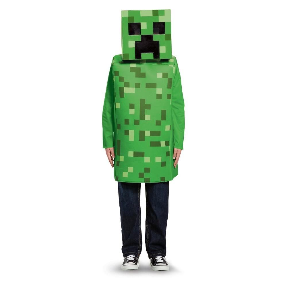 Kids' Minecraft Creeper Classic Halloween Costume L (10-12), Boy's, Multicolored