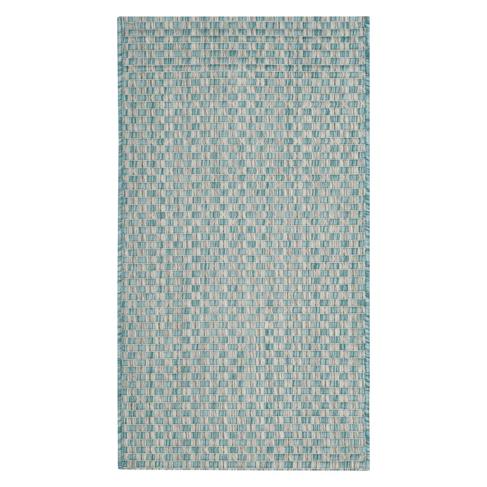 Tabatha 2' x 3'7 Indoor/Outdoor Rug - Light Blue/Light Gray - Safavieh
