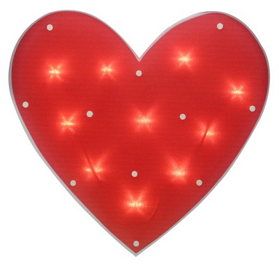 "Northlight 14.25"" Lighted Red Heart Valentine's Day Window Silhouette Decoration"