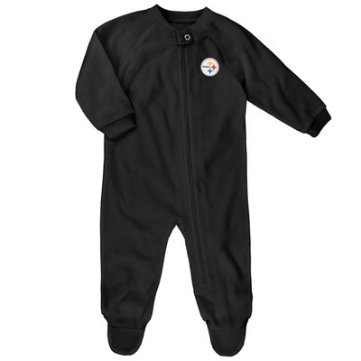 Pittsburgh Steelers Baby Boys' Embroidered Team Logo Footed Sleep N' Play 0-3 M