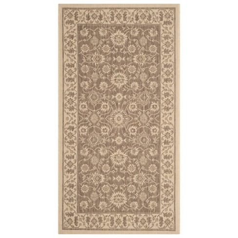 Bunt Rectangle Patio Rug - Brown / Creme - Safavieh® - image 1 of 1
