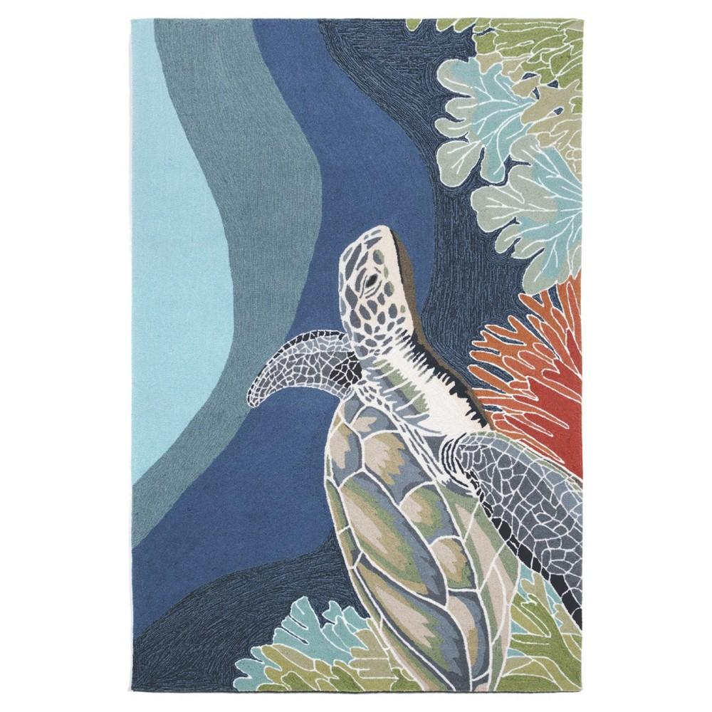 Blue Turtle Tufted Round Area Rug - (8') - Liora Manne