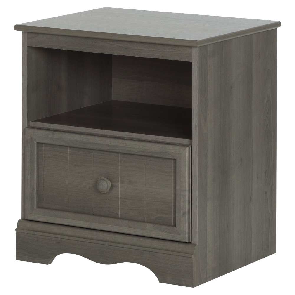 Savannah 1 - Drawer Nightstand - Gray Maple - South Shore, Grey