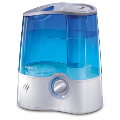 Vicks Ultra Quiet Cool Mist Humidifier - White/Blue