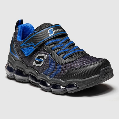 Boys' S Sport by Skechers Daxton Athletic Shoes - Black/Blue - image 1 of 3