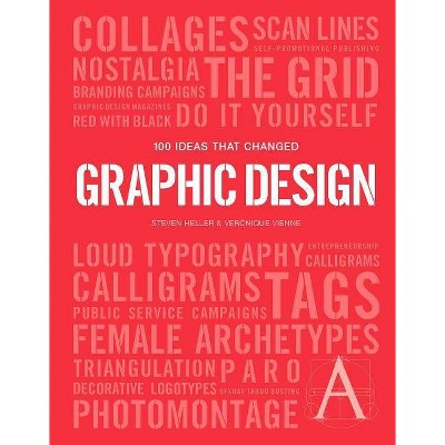 100 Ideas That Changed Graphic Design - (Pocket Editions) by  Steven Heller & Veronique Vienne (Paperback)