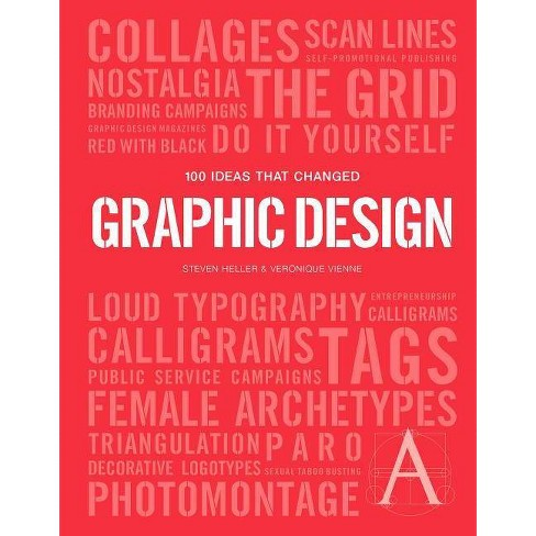 100 Ideas That Changed Graphic Design - (Pocket Editions) by  Steven Heller & Veronique Vienne - image 1 of 1