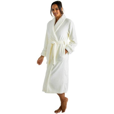Softies Women's Plush Sherpa Robe with Contrast Trim