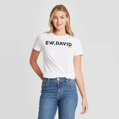Women's Schitt's Creek Eww David Short Sleeve Graphic T-Shirt - White