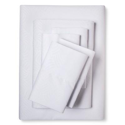 Queen 6pc Natalia Cavalletto Swirl Design Sheet Set White - Christopher Knight Home