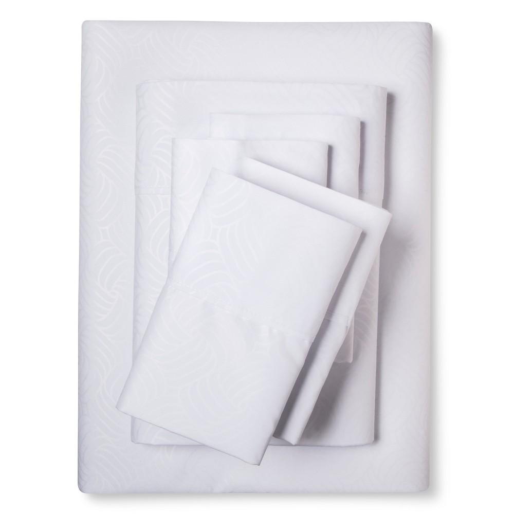 Image of Christopher Knight Home Natalia Cavalletto Swirl Design Sheet Set - White (Queen)