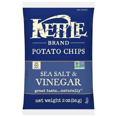 Kettle Café Sea Salt & Vinegar Potato Chips - 2oz