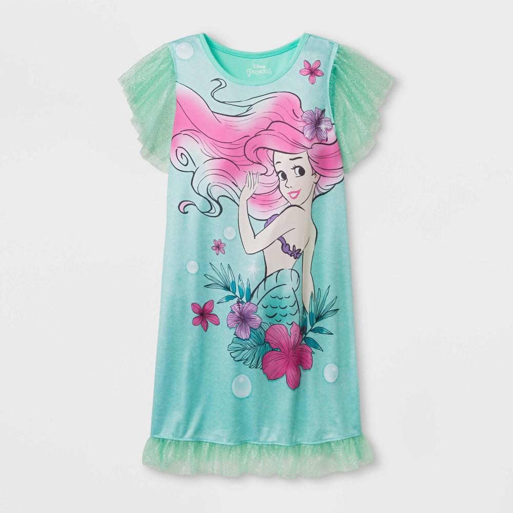 Girls' The Little Mermaid Nightgown - Green M