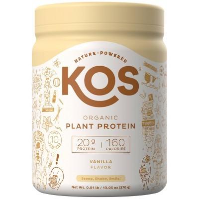 KOS Organic Vegan Protein Powder - Vanilla - 13.05oz