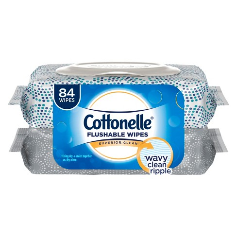 Cottonelle Fresh Care Flushable Wipes Refill- 2pk/ 84ct - image 1 of 4