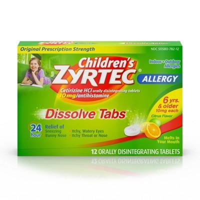 Allergy & Sinus: Children's Zyrtec Dissolve Tabs