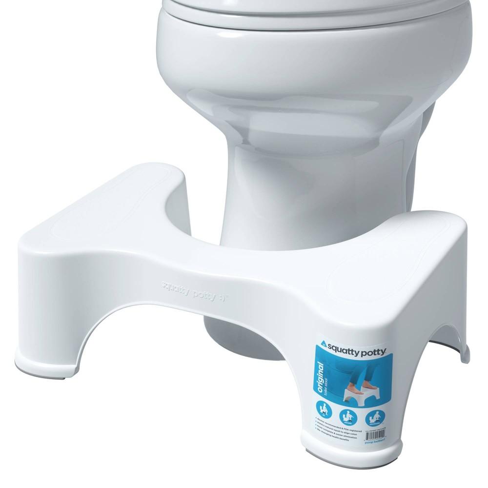 7 The Original Bathroom Toilet Stool White Squatty Potty