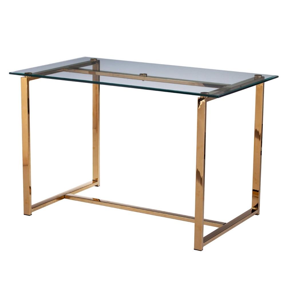 Image of Bendall Multipurpose Glass Table/Desk Gold - Holly & Martin