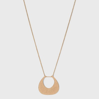 Worn Gold Pendant Necklace - Universal Thread™ Gold