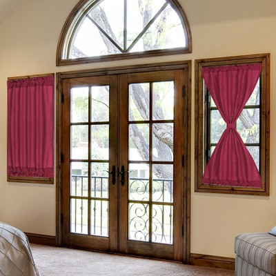 1 Pc Solid Thermal Insulated Blackout Door Curtain Panels - PiccoCasa