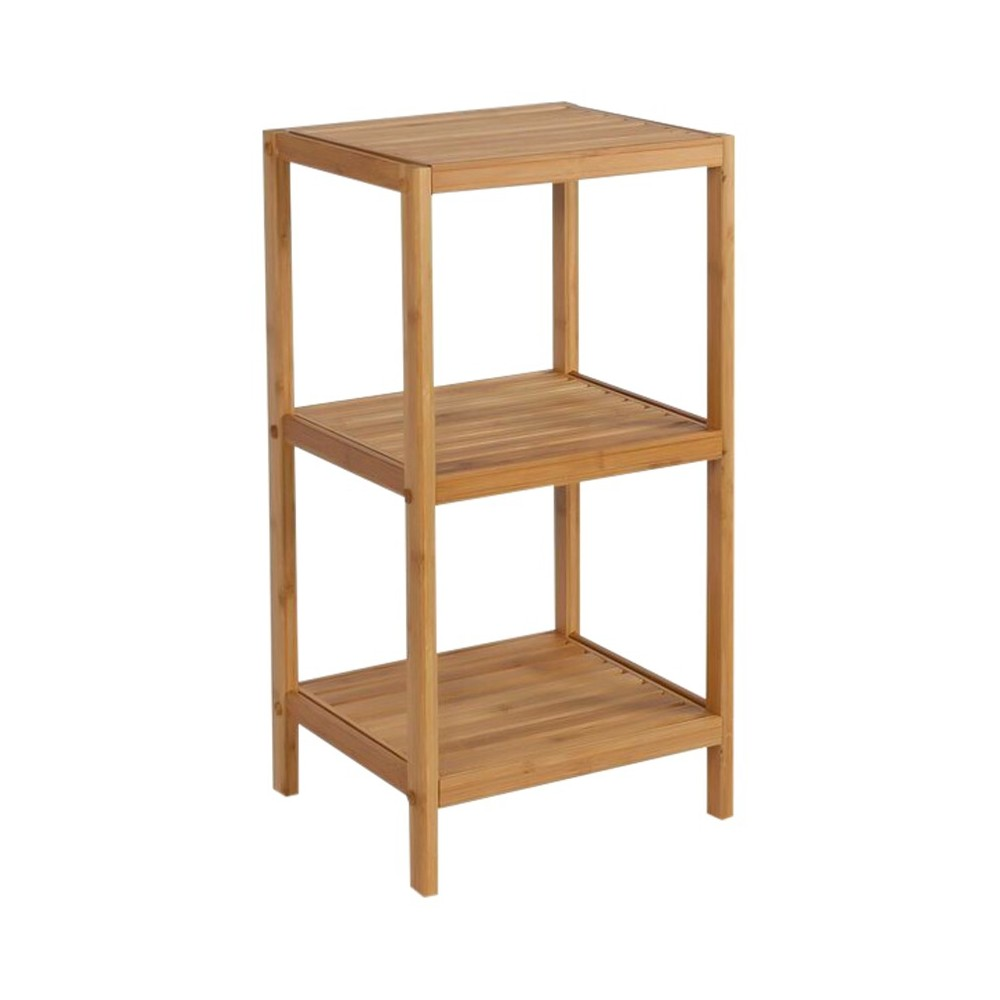 Image of 3 Shelf Bamboo tower Light Brown Bamboo - Eco Styles