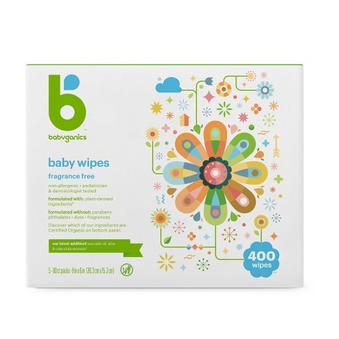 Babyganics Fragrance-Free Baby Wipes (Select Count) - image 1 of 3
